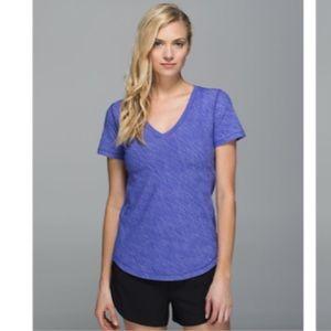 Lululemon Athletica purple shirt sleeve V neck